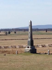 Monument on Union line below Cemetery Ridge - David and Phyllis Oxman