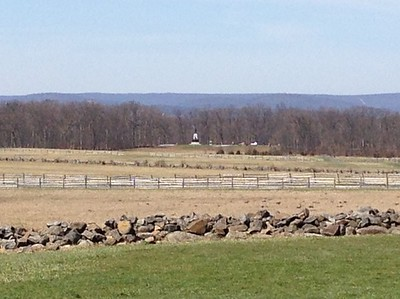 Site of Pickett's Charge across open field to Cemetery Ridge, Gettysburg - David and Phyllis Oxman