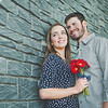 Angie and Dan's engagement session at Scioto Mile in Columbus