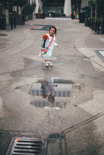 Puddles in the Financial District