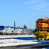 The Boston section of the Lake Shore Limited passes through West Springifeld Yard on January 25, 2015.