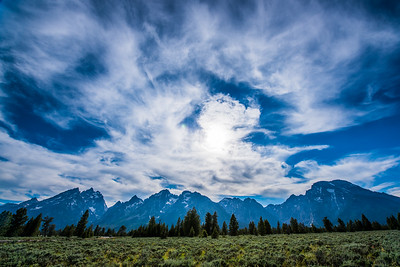 Clouds and the Tetons