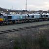 66432 66304 66433 Tyne Yard   29/12/15.