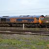 66764 0917/4N47 Drax-Tyne Dock passes York Yard on the avoiding line   28.12.15.