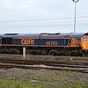 66763 0916/6H12 Tyne Dock-Drax passes York Yard on the avoiding line  28.12.15
