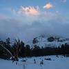 Last sunlight above Mt. Dana