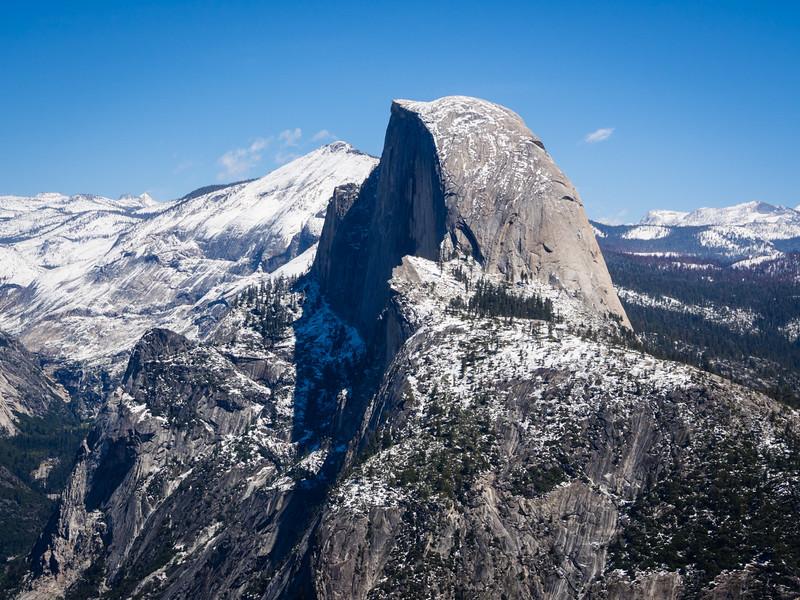 Half Dome in profile