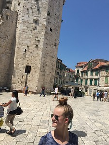 The town square in Trogir.