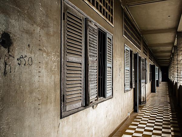 Cell Blocks, S21, Phnom Penh.