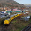 97304+97302 arrive at Neath & Brecon Jn working the 08:55 Alexander Dock Jn - Landore test train 17/01/15