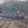 66424 passes through Bristol Parkway on the 09:23 Daventry - Wentloog (Cardiff) 04/01/15