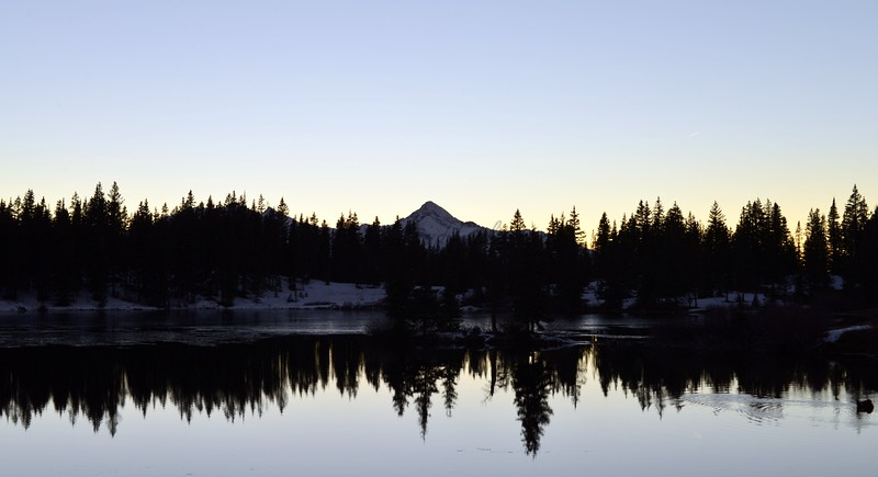 Sunset on Wilson Peak from Alta Lakes 11-1-15