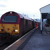 67021 calls at Kingussie with the 21:15 London Euston - Inverness sleeper train 21/02/15