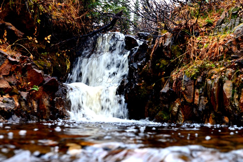 Late Fall Waterfall on Bolam Pass