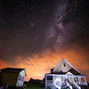 Milky Way, Prince Edward Island. Light Painting.
