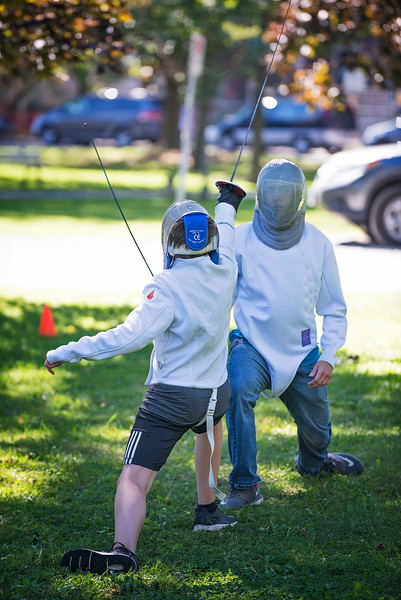 Fencing in Kingston, 26 September, 2015.