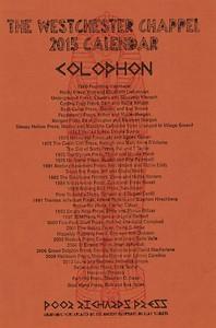 Colophon, 2015, Poor Richard's Press