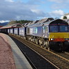 66305 passes through Aviemore with the 05:08 Mossend - Inverness 15/04/15.