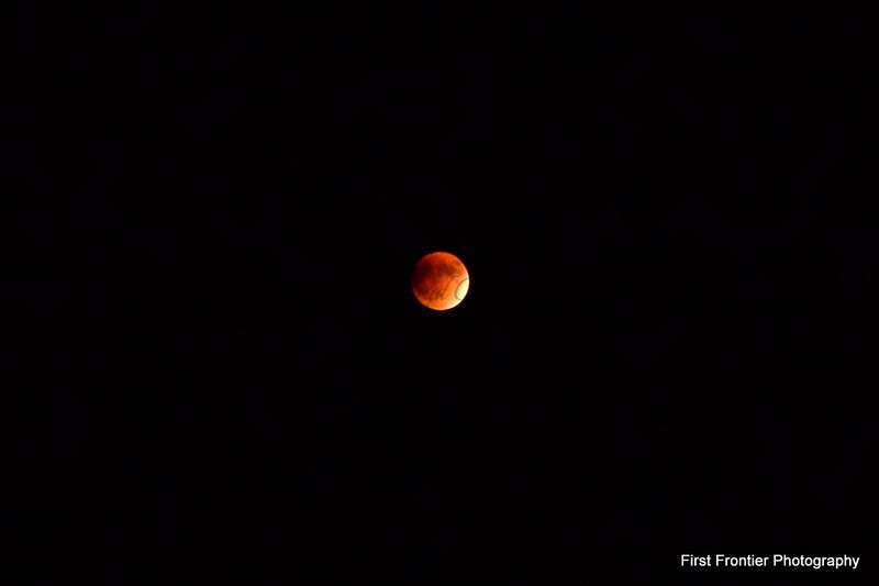 Super Harvest Eclipsed Moon