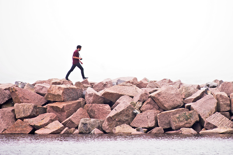 On the breakwater at Kingston, Ont. 1 July, 2015.