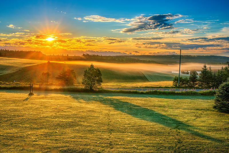 Sunrise. 8 August, 2015. New London, Prince Edward Island.