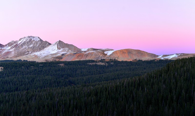 Colorful Sunset on Bolam Pass