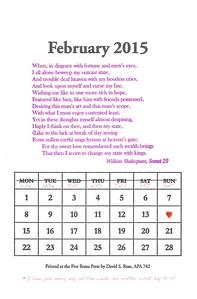 February, 2015, Five Roses Press