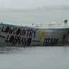 follyboat during flood from finish 526