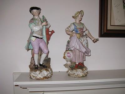 Fine Late 19c Meissen Porcelain Figures