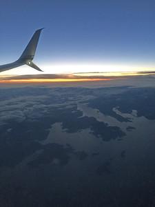 Prince William Sound in pre-dawn light.