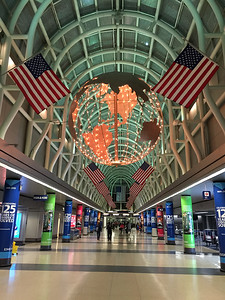 Chicago's O'Hare International Airport at midnight.  The bars were closed!