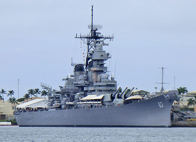 USS Missouri.  Tours to this and Arizona were both sold out for the day.