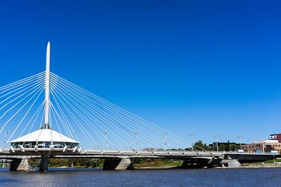 Provencher Bridge Esplanade Riel Red River