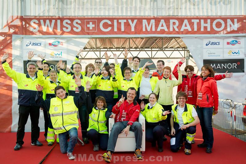 25. 01. 2015 - Samariter am Luzerner Marathon © Patrick Lüthy/IMAGOpress.com