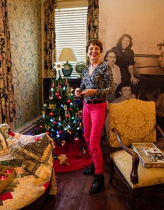 Janet Oscar decorates at Israel Crane House & Historic YWCA