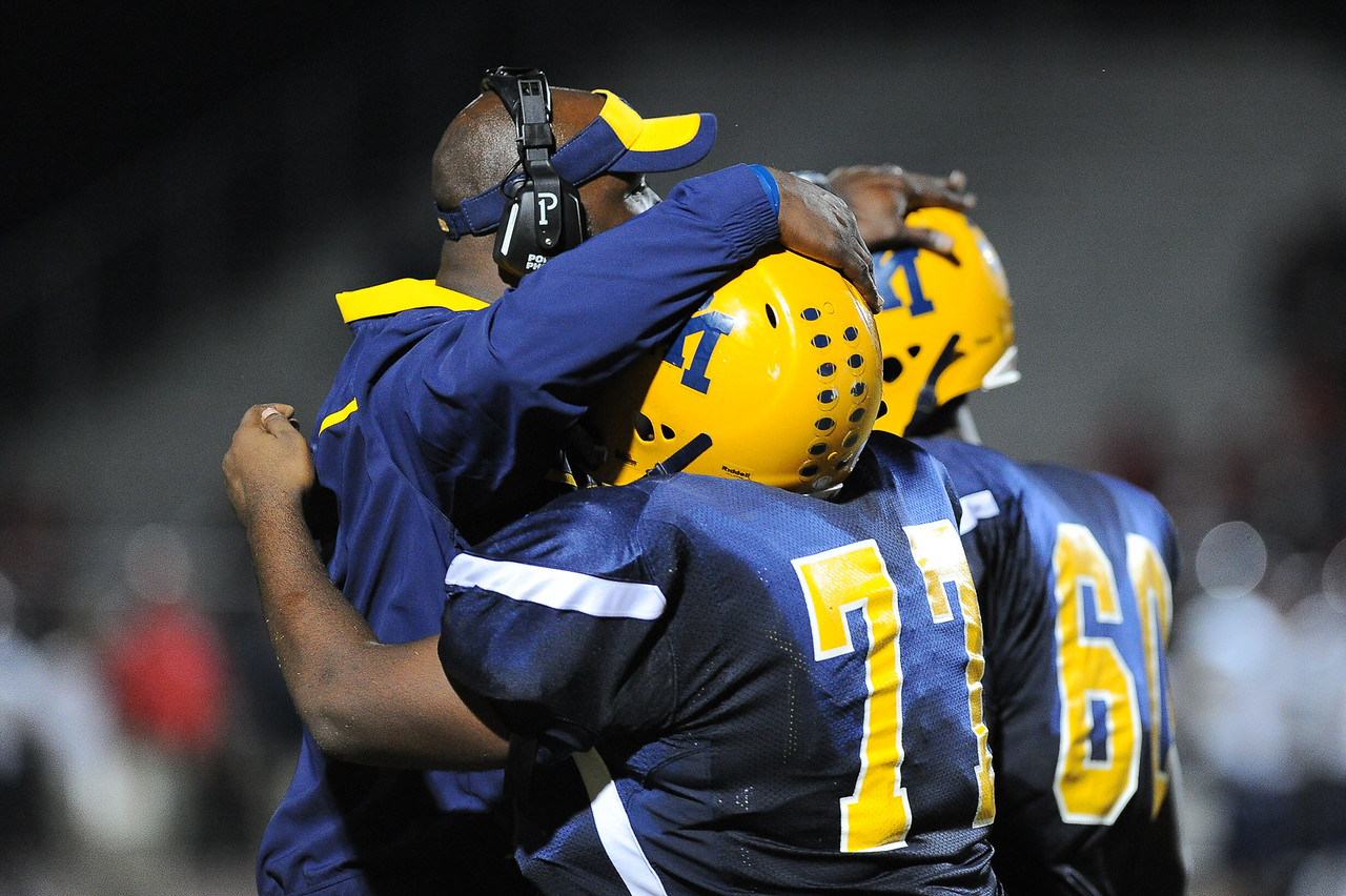 Rocky Mount Kera Robinson (77) and Rocky Mount Niles Pride (60) Rocky Mount defeats Southern Nash 35-14 Friday evening October 30, 2015 in Rocky Mount, NC (Photos by Anthony Barham / WRAL contributor.)