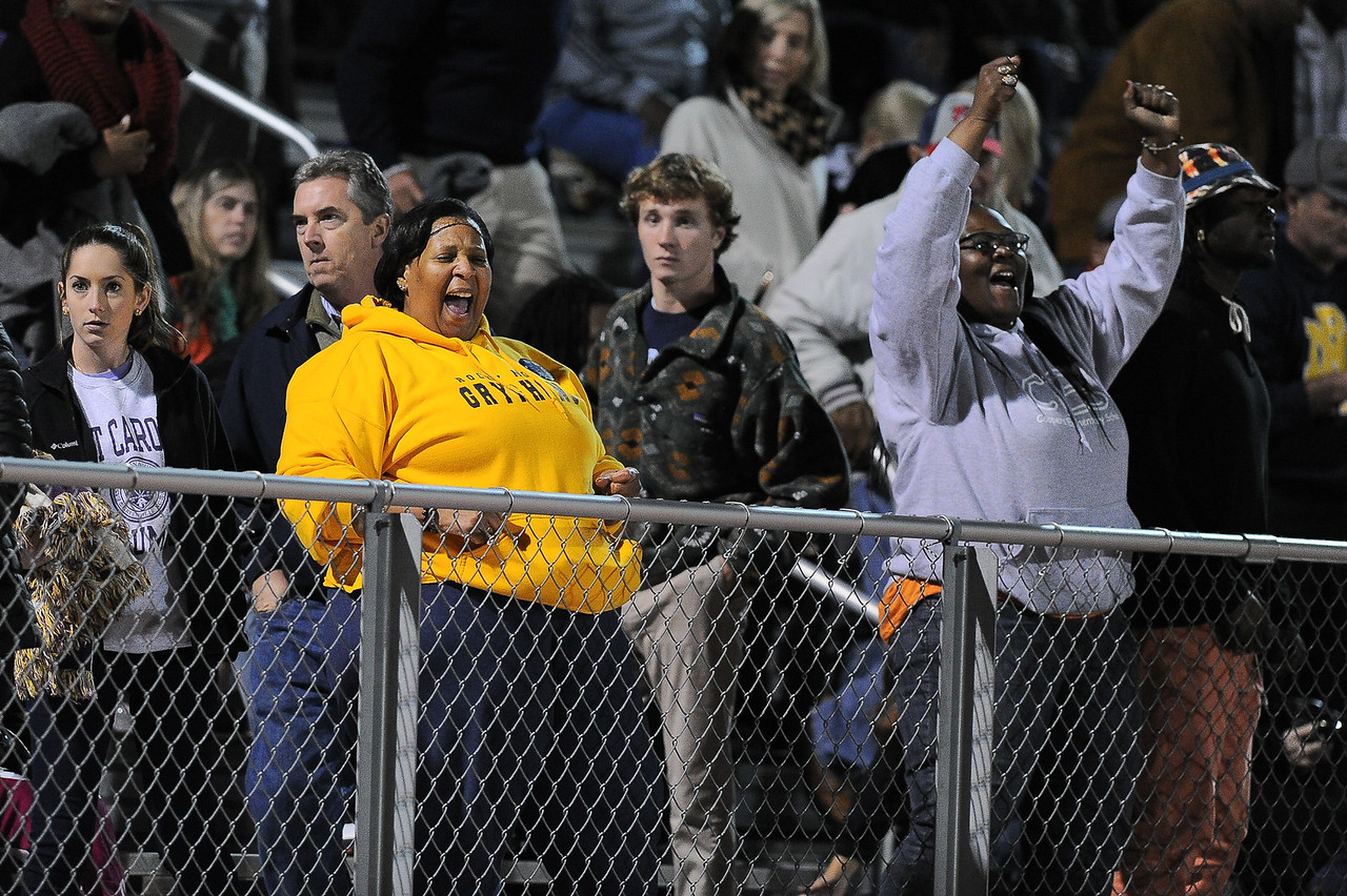Rocky Mount fans celebrate during tonights game. Rocky Mount defeats Southern Nash 35-14 Friday evening October 30, 2015 in Rocky Mount, NC (Photos by Anthony Barham / WRAL contributor.)