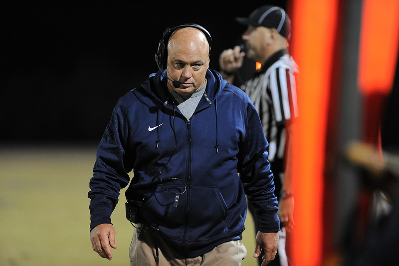 Southern Nash coach during tonights game. Rocky Mount defeats Southern Nash 35-14 Friday evening October 30, 2015 in Rocky Mount, NC (Photos by Anthony Barham / WRAL contributor.)