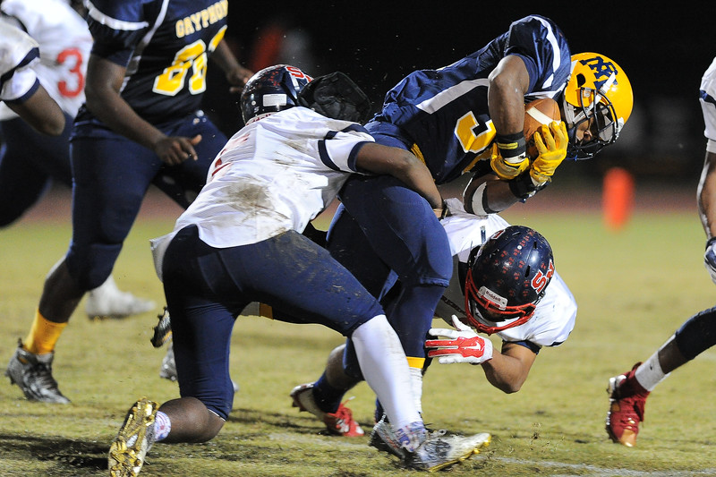 Rocky Mount Nick Bynum (32) Rocky Mount defeats Southern Nash 35-14 Friday evening October 30, 2015 in Rocky Mount, NC (Photos by Anthony Barham / WRAL contributor.)