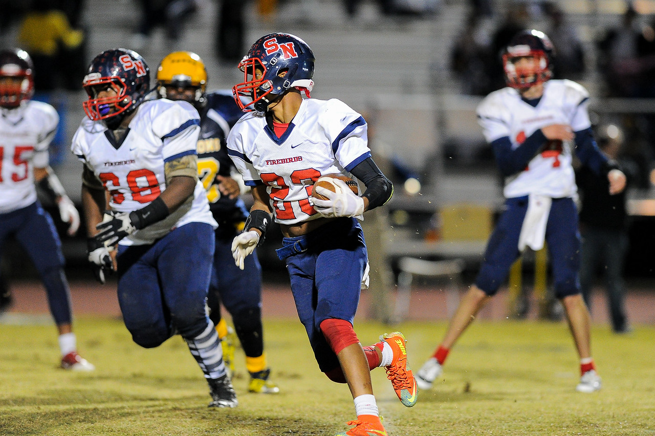 Southern Nash Jaquay Mitchell (23) Rocky Mount defeats Southern Nash 35-14 Friday evening October 30, 2015 in Rocky Mount, NC (Photos by Anthony Barham / WRAL contributor.)