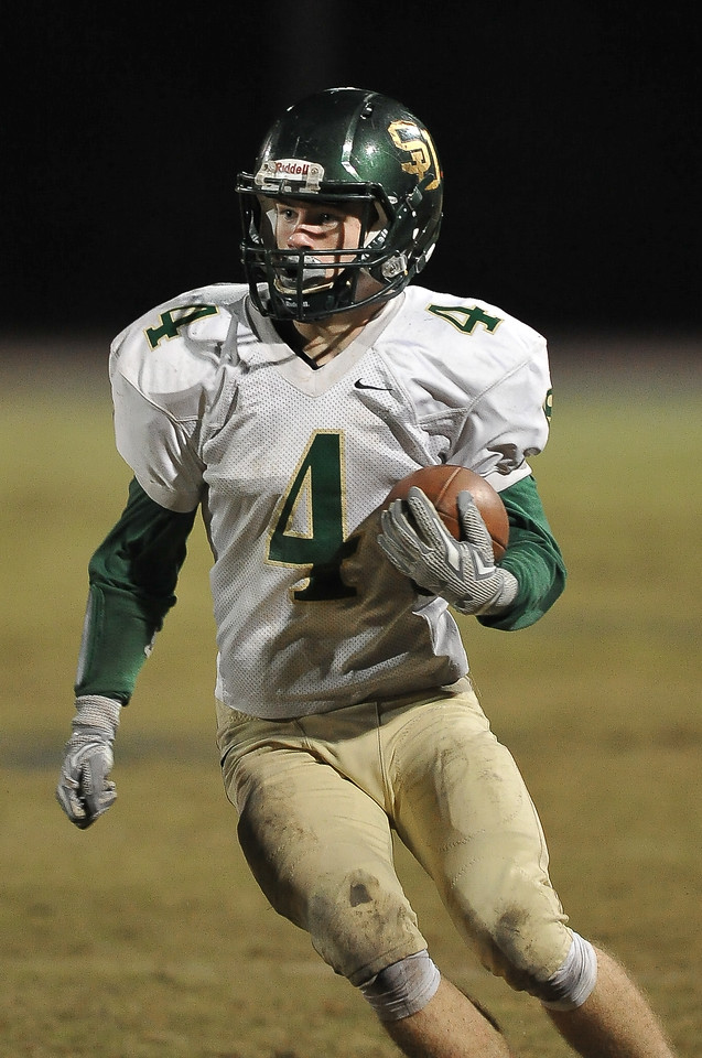 South Johnston Jaclayton Freeman (4) during tonights game. Rocky Mount defeats South Johnston in the 2nd round of the playoffs 34-20 Friday evening November 20, 2015 in Rocky Mount NC (Photos by Anthony Barham / WRAL contributor.)