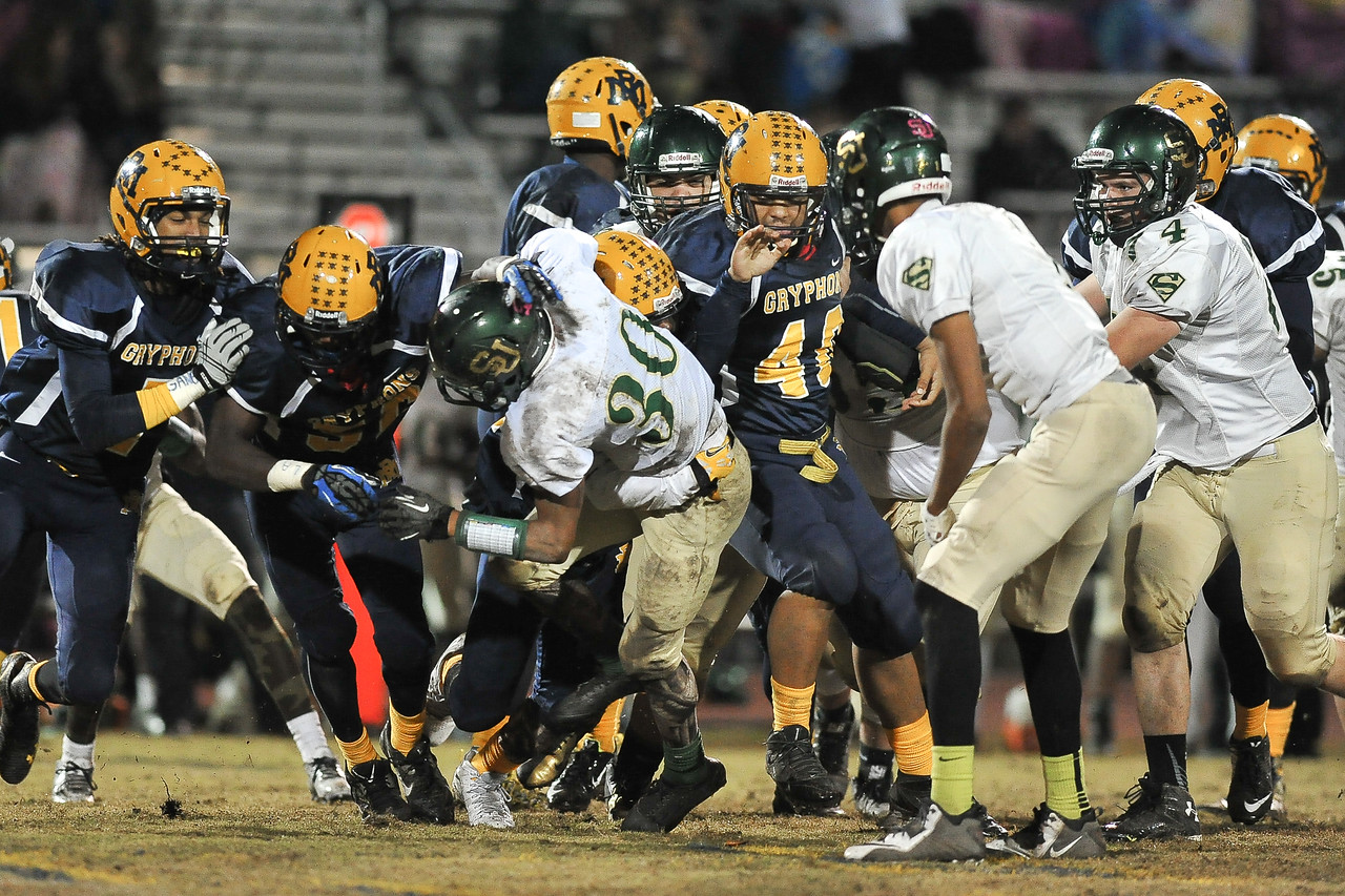 South Johnston Tyrell Forbes (30) during tonights game. Rocky Mount defeats South Johnston in the 2nd round of the playoffs 34-20 Friday evening November 20, 2015 in Rocky Mount NC (Photos by Anthony Barham / WRAL contributor.)