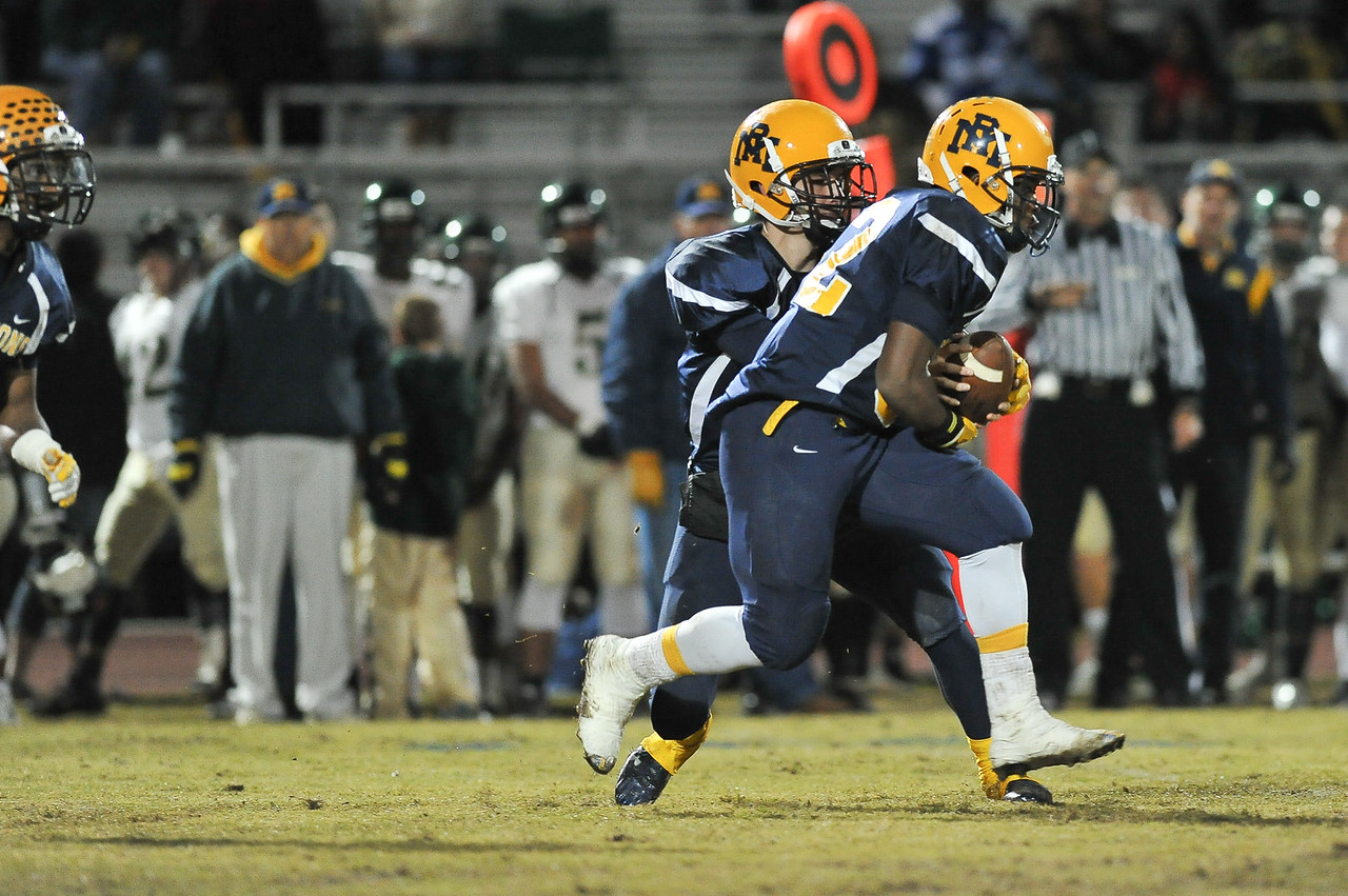 Rocky Mount Nick Bynum (32) during tonights game. Rocky Mount defeats South Johnston in the 2nd round of the playoffs 34-20 Friday evening November 20, 2015 in Rocky Mount NC (Photos by Anthony Barham / WRAL contributor.)