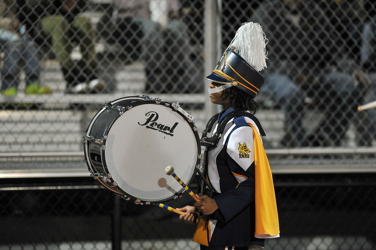 Rocky Mount Marching Band during tonights game. Rocky Mount defeats South Johnston in the 2nd round of the playoffs 34-20 Friday evening November 20, 2015 in Rocky Mount NC (Photos by Anthony Barham / WRAL contributor.)