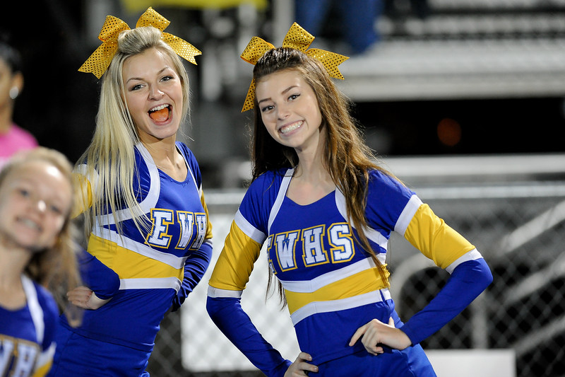 East Wake cheerleaders during tonights game.East Wake defeats Harnett Central 60-27 Friday evening November 6, 2015 in Wendell, NC (Photos by Anthony Barham / WRAL contributor.)
