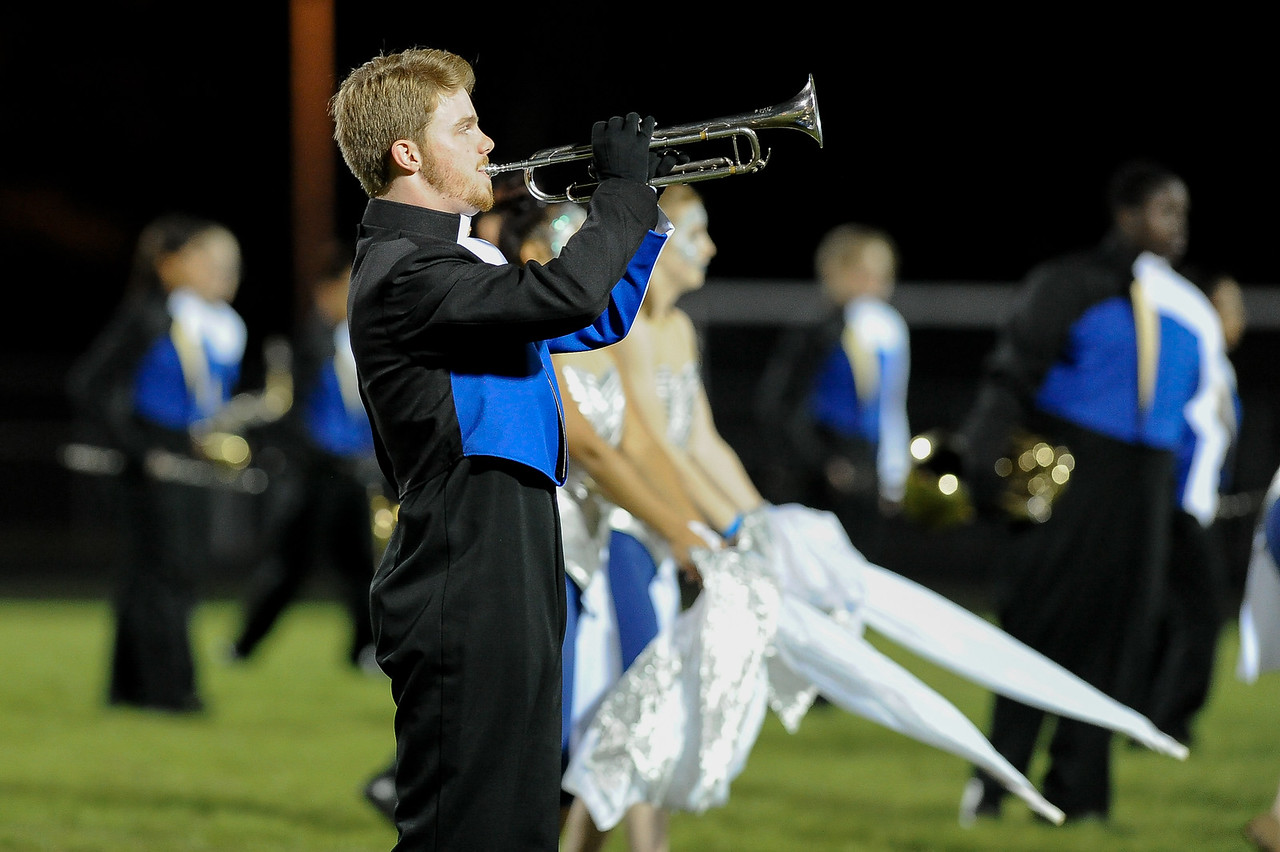 East Wakes marching band during tonights game.East Wake defeats Harnett Central 60-27 Friday evening November 6, 2015 in Wendell, NC (Photos by Anthony Barham / WRAL contributor.)