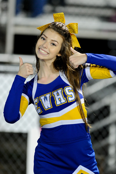 East Wake  cheerleader during tonights game.East Wake defeats Harnett Central 60-27 Friday evening November 6, 2015 in Wendell, NC (Photos by Anthony Barham / WRAL contributor.)