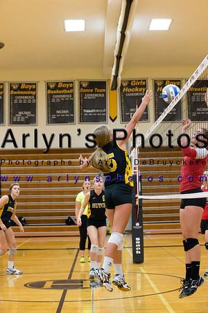 Hutch Volleyball vs Mayer Lutheran