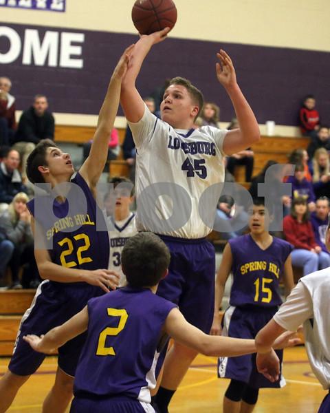LMS 8th Boys Basketball and Cheer