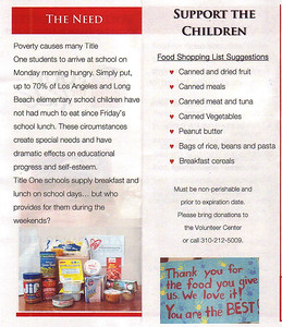 "11-23-15 Food Drive ""Food for Kids"""